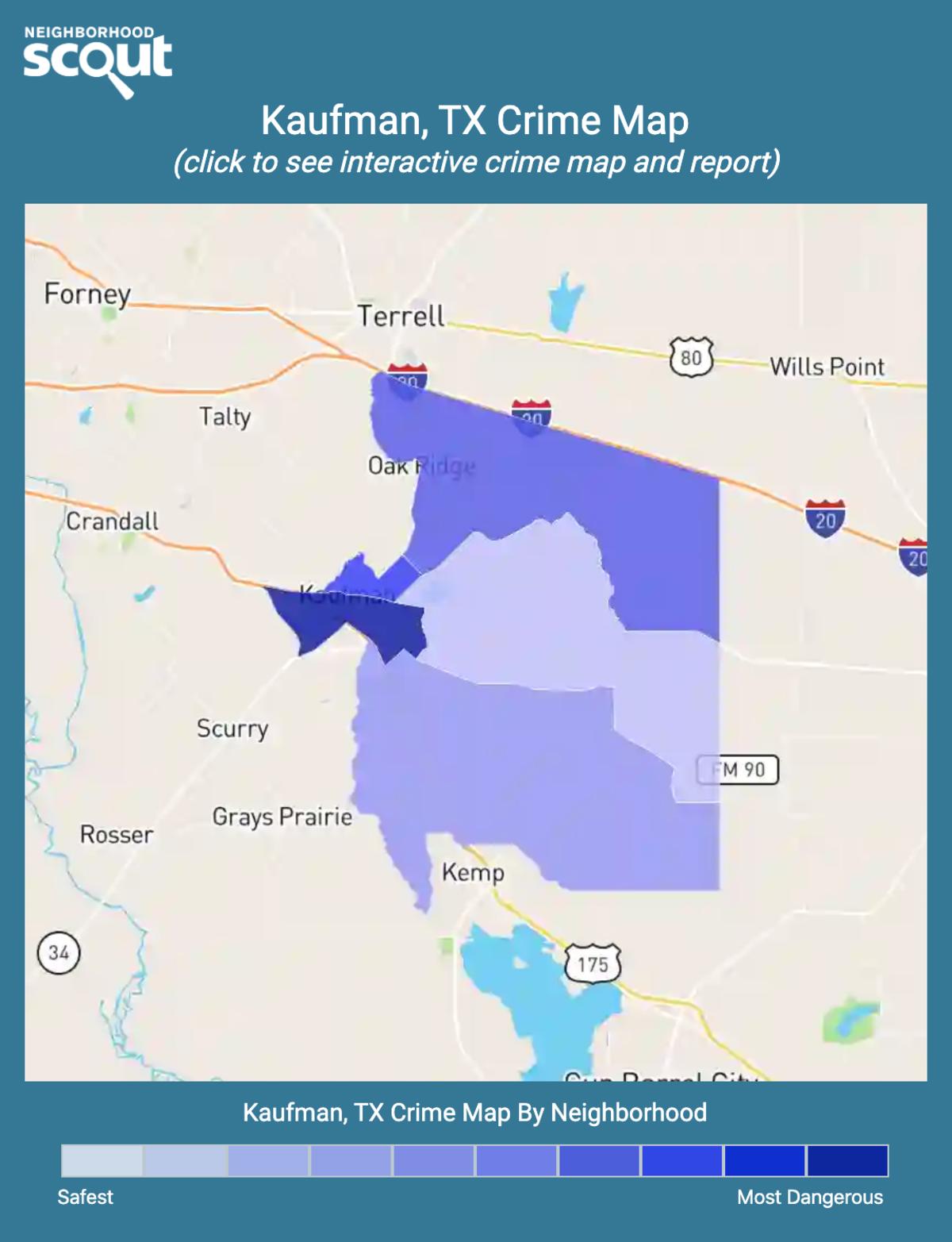 Kaufman, Texas crime map
