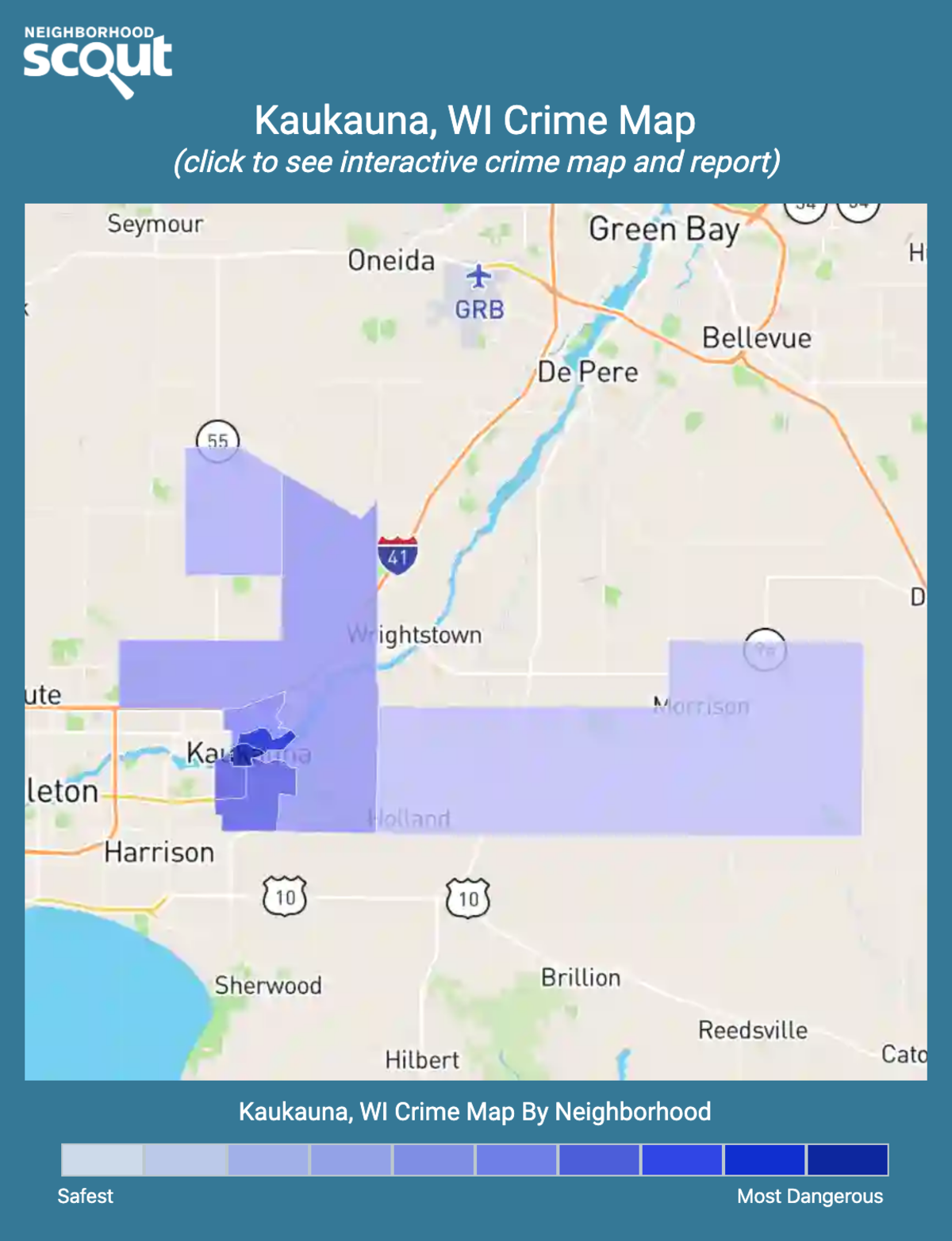 Kaukauna, Wisconsin crime map
