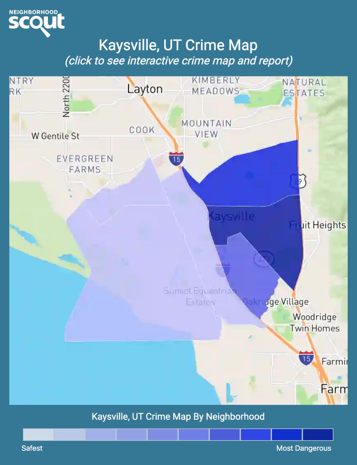 Kaysville, Utah crime map