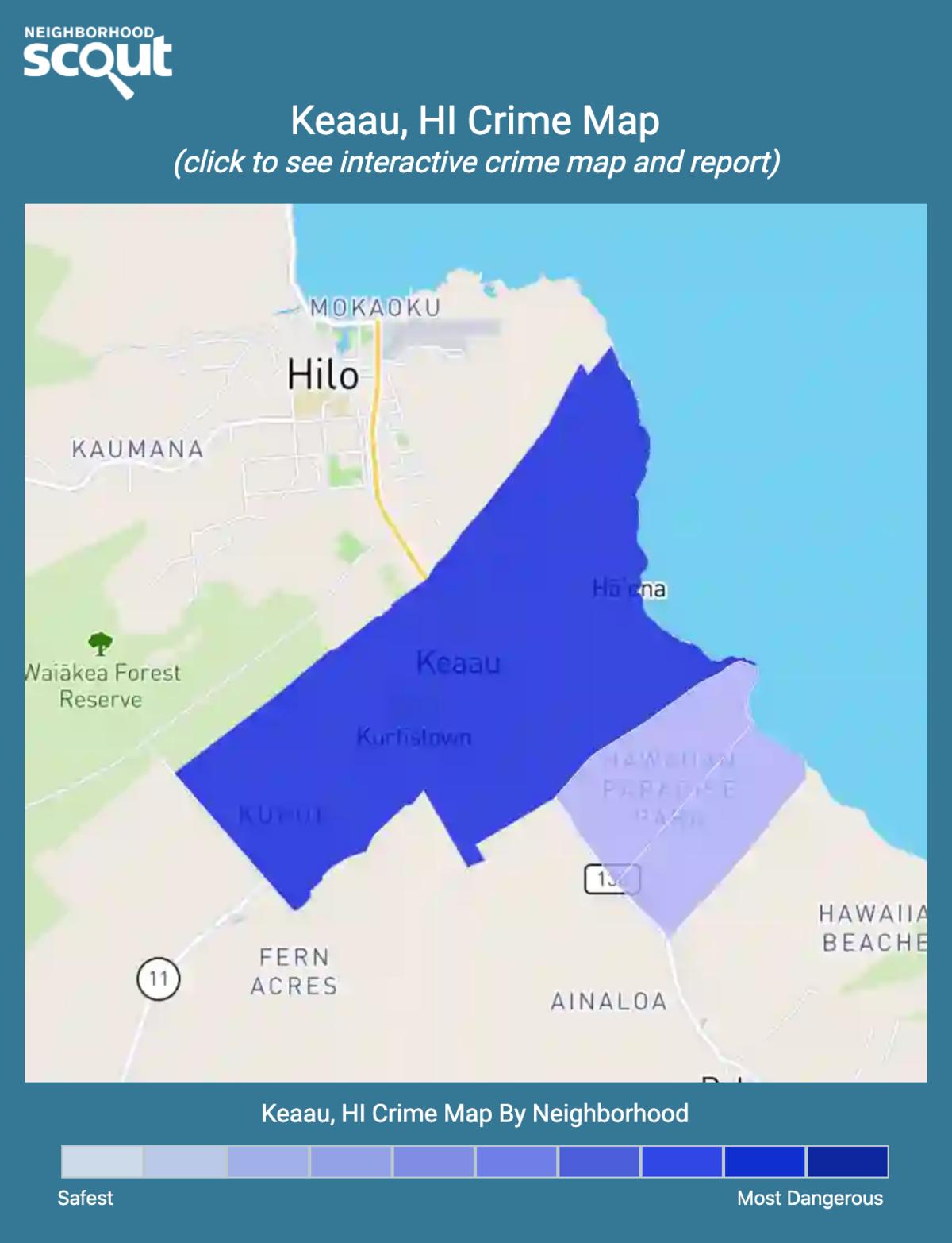 Keaau, Hawaii crime map