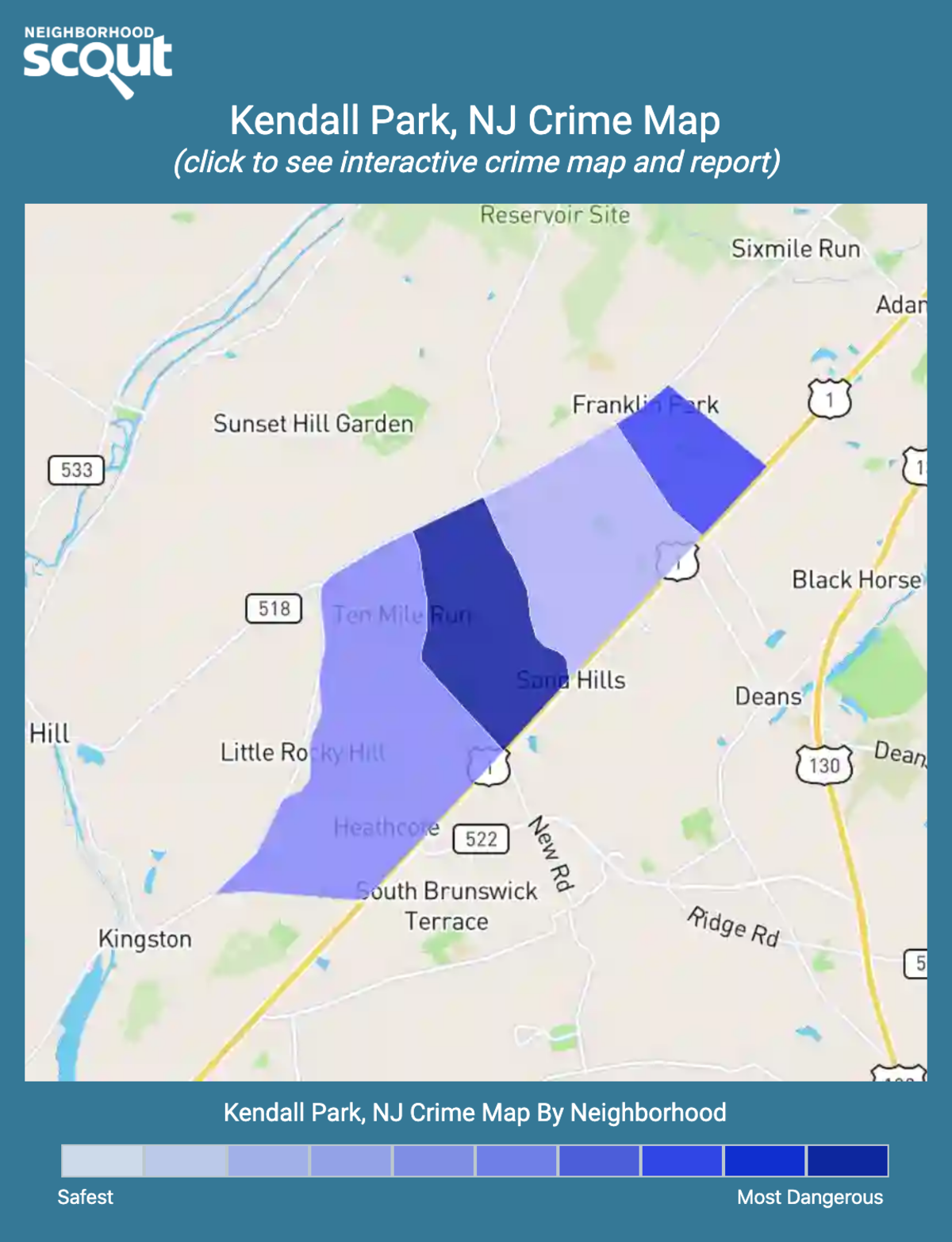 Kendall Park, New Jersey crime map
