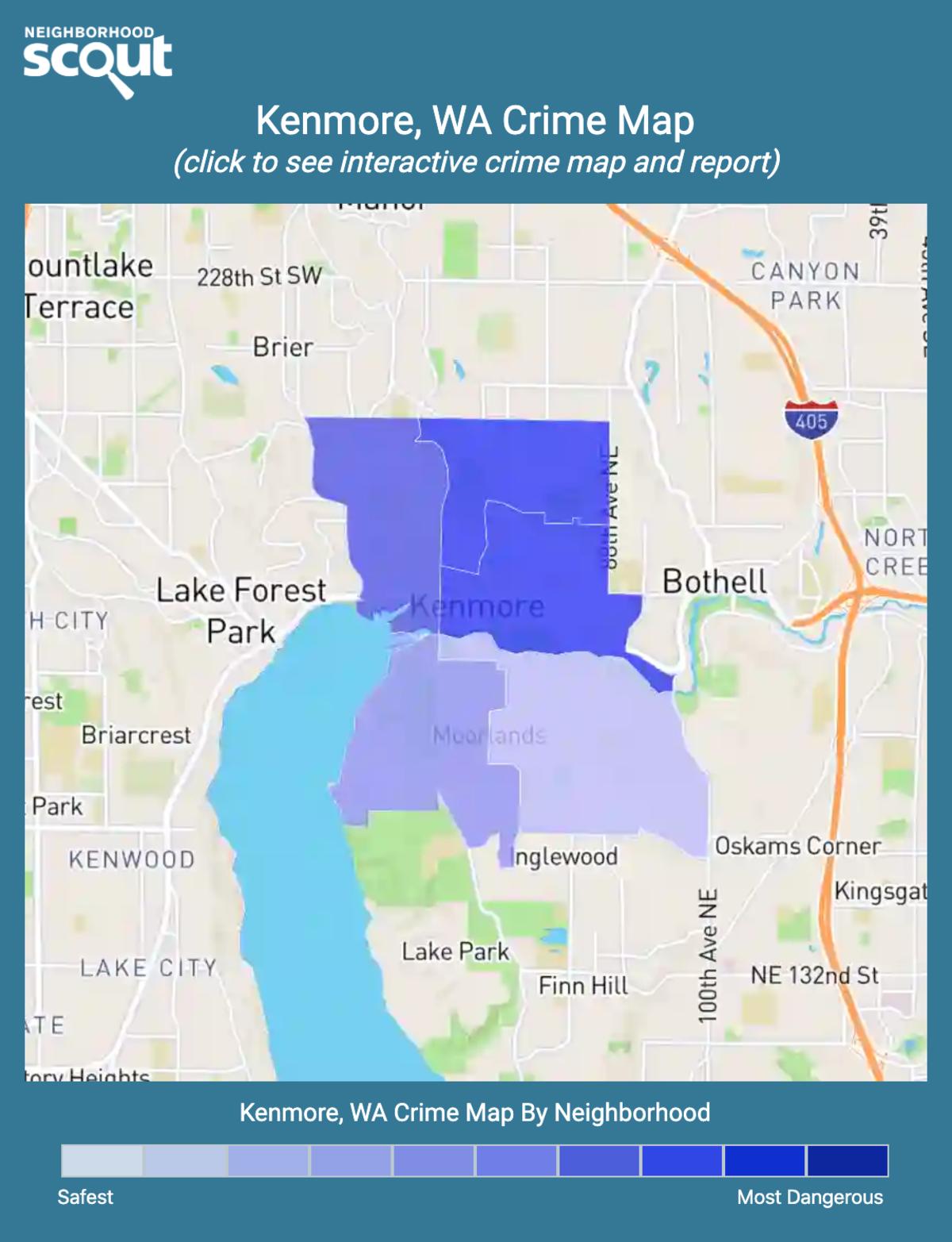 Kenmore, Washington crime map