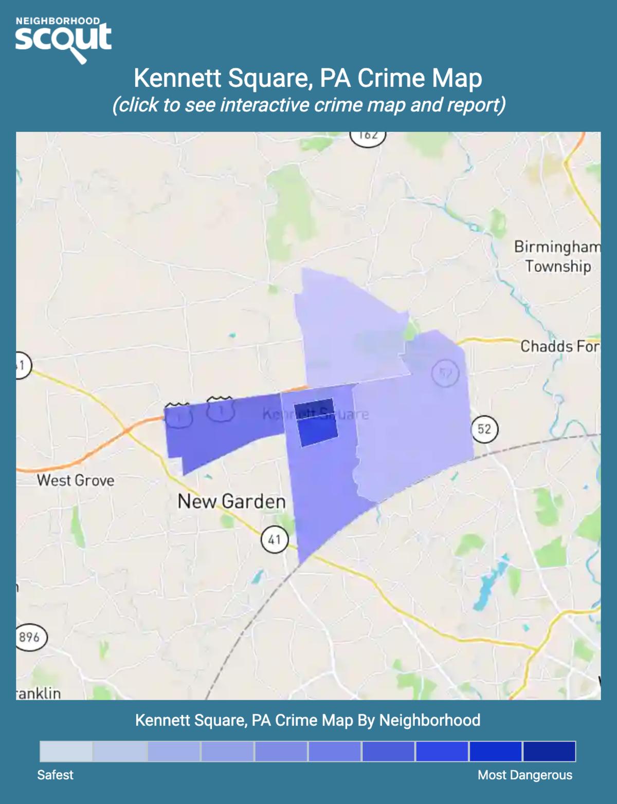 Kennett Square, Pennsylvania crime map
