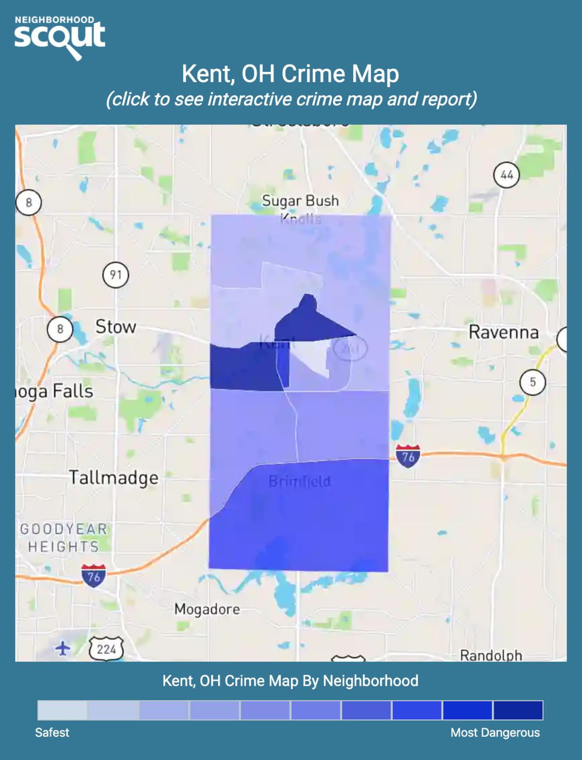Kent, Ohio crime map