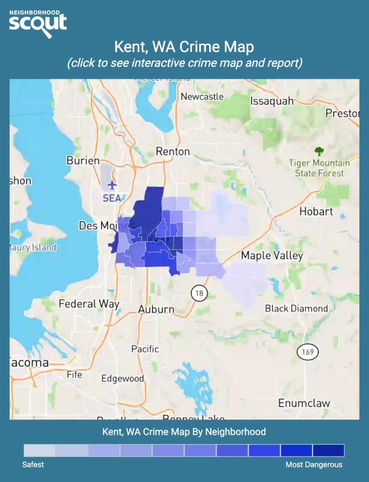 Kent, Washington crime map