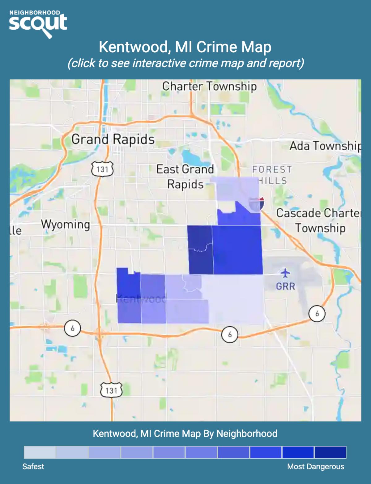Kentwood, Michigan crime map