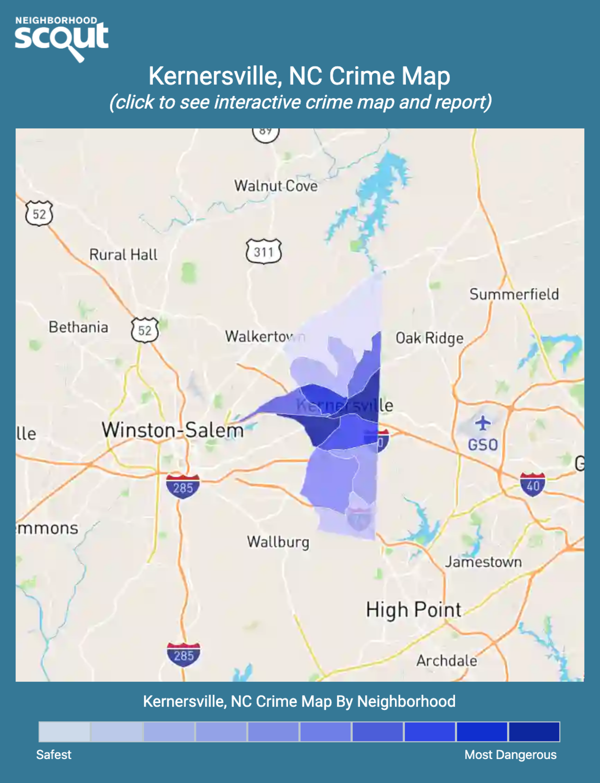 Kernersville, North Carolina crime map