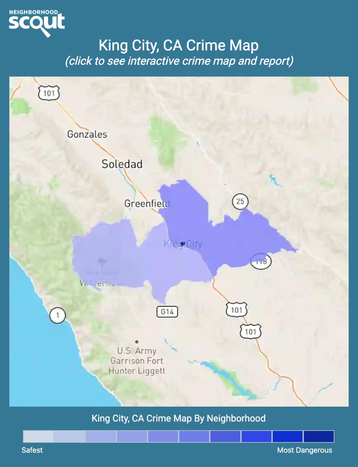 King City, California crime map
