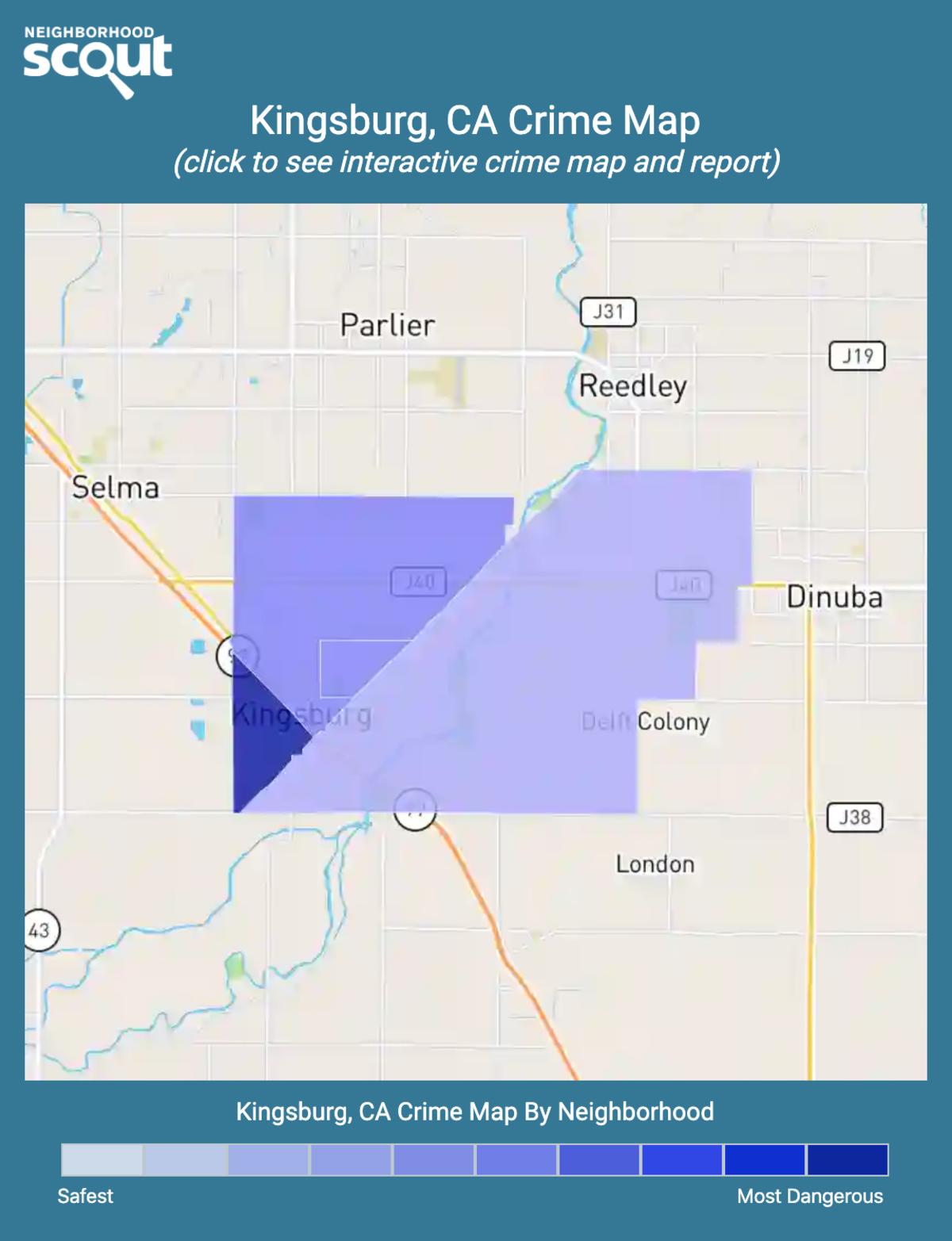 Kingsburg, California crime map