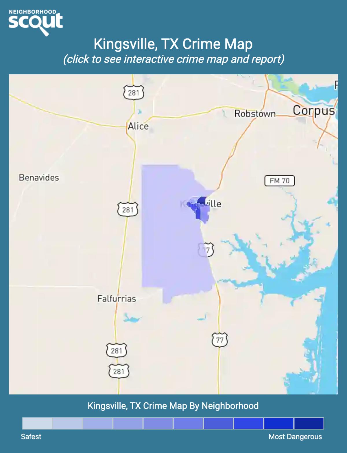 Kingsville, Texas crime map