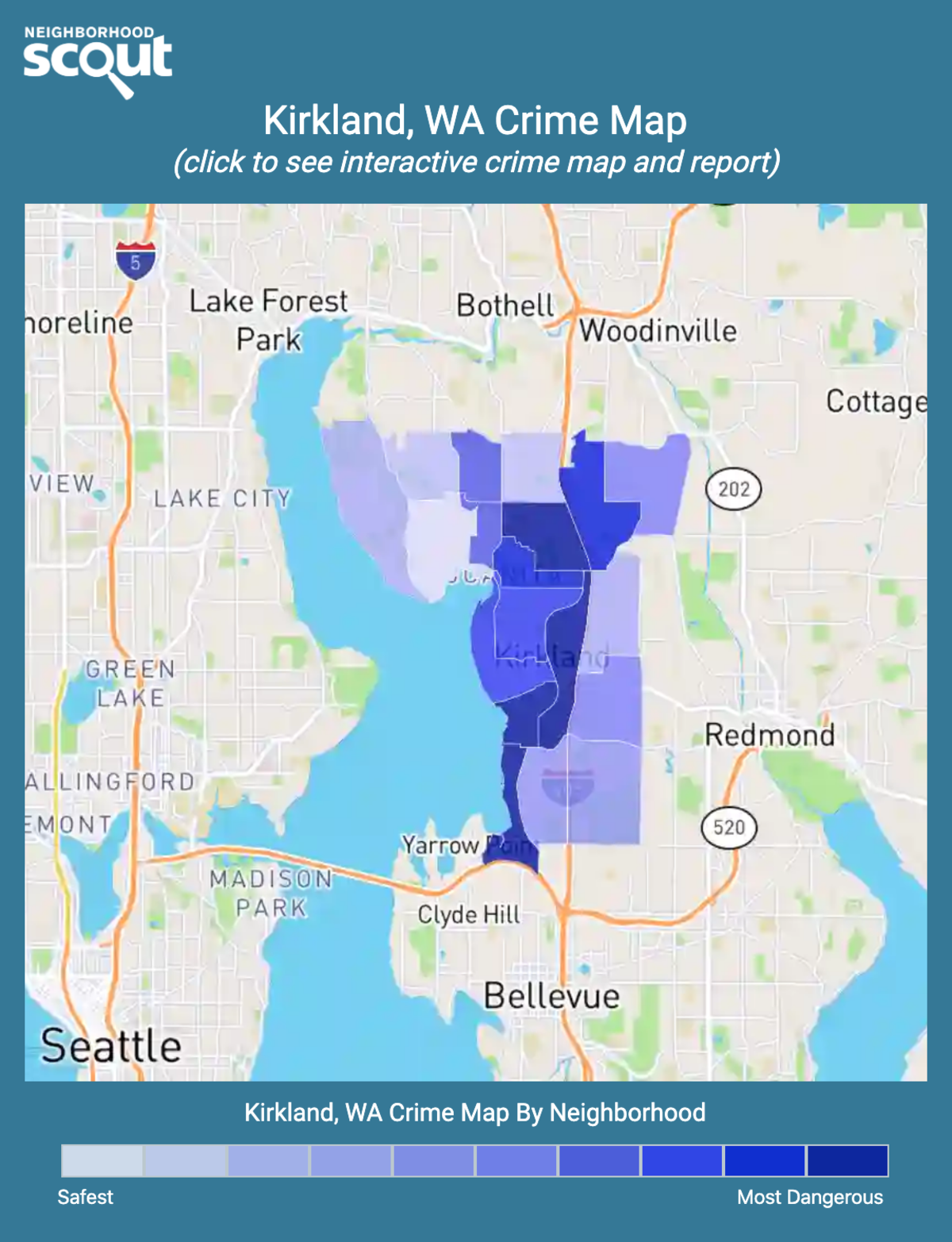 Kirkland, Washington crime map