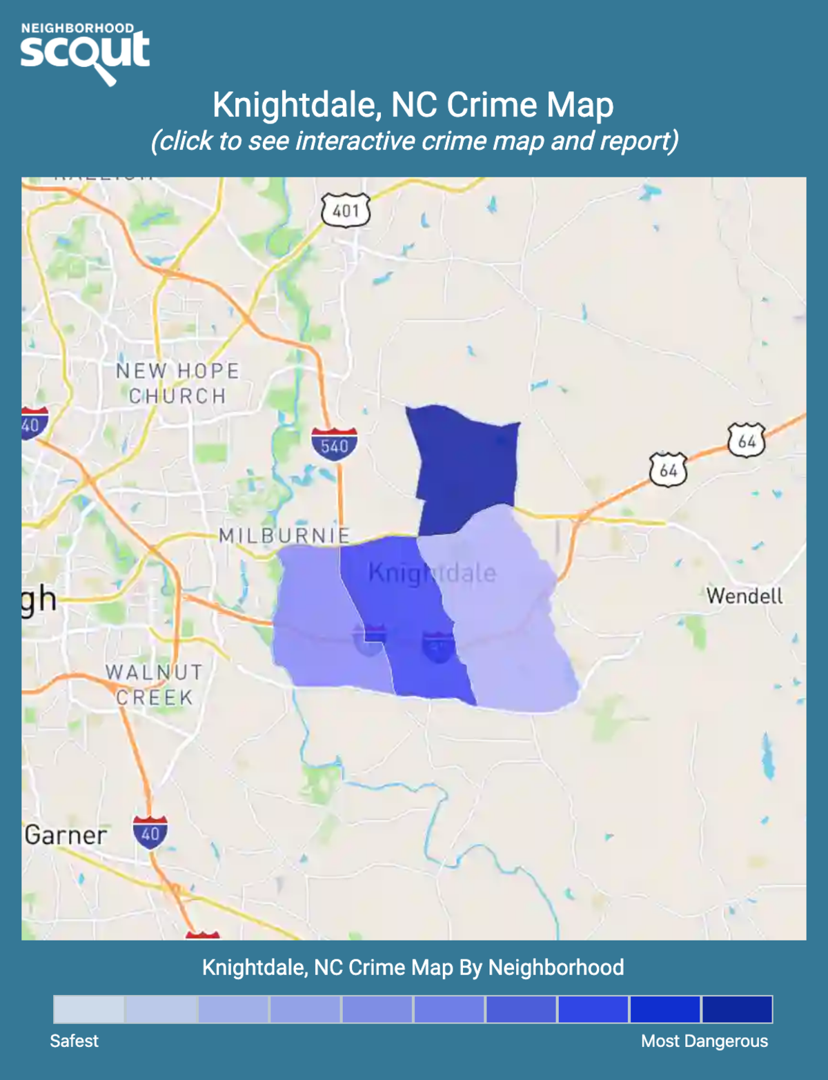 Knightdale, North Carolina crime map