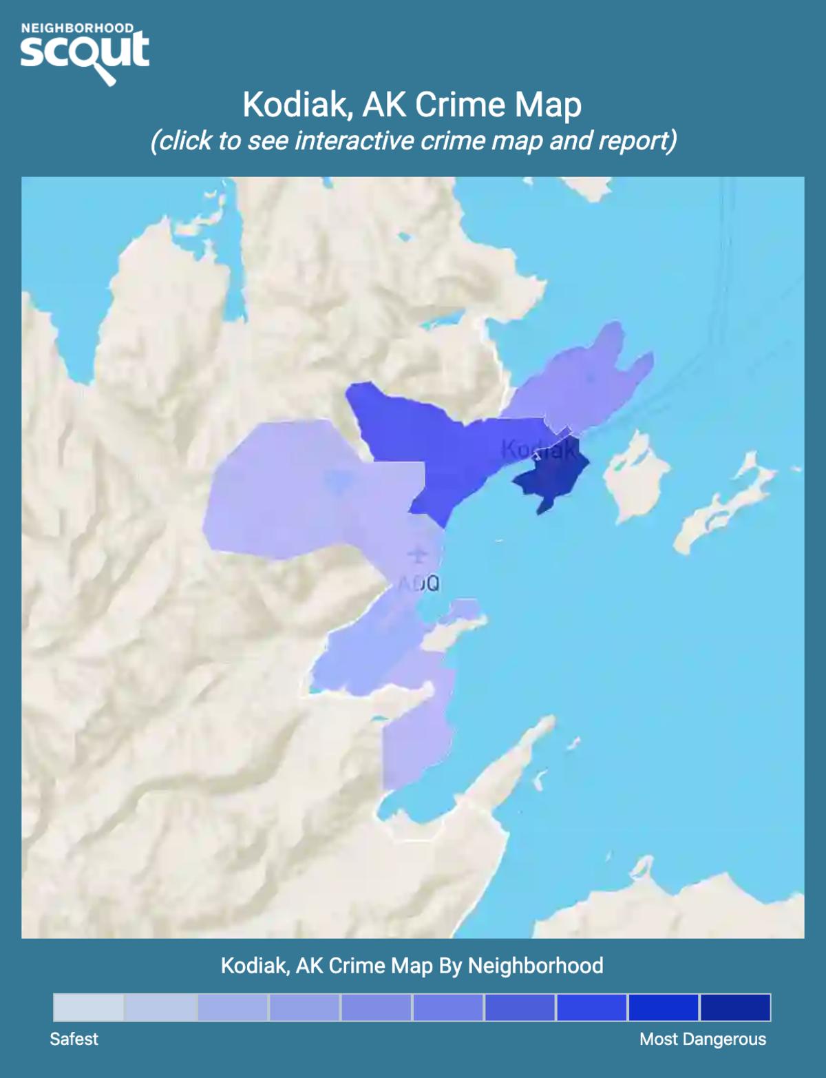 Kodiak, Alaska crime map