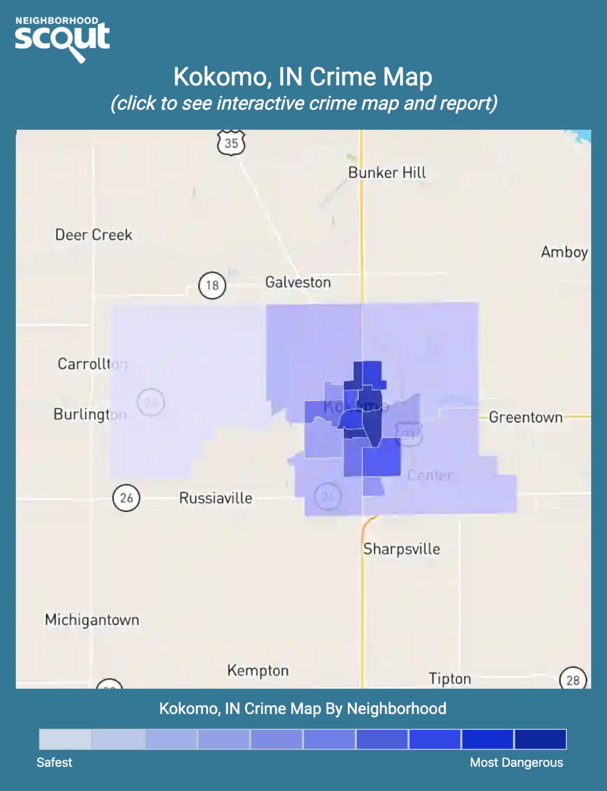 Kokomo, Indiana crime map