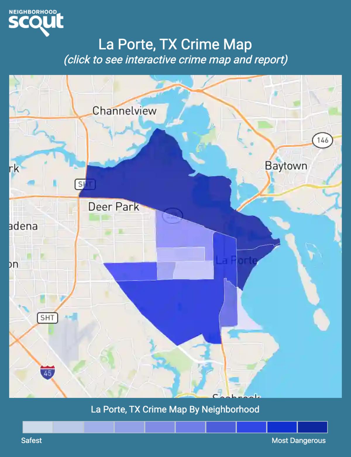 La Porte, Texas crime map