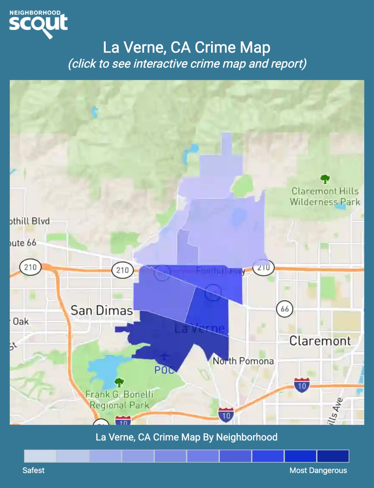 La Verne, California crime map