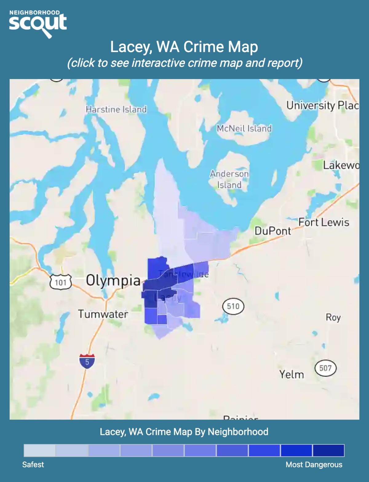 Lacey, Washington crime map