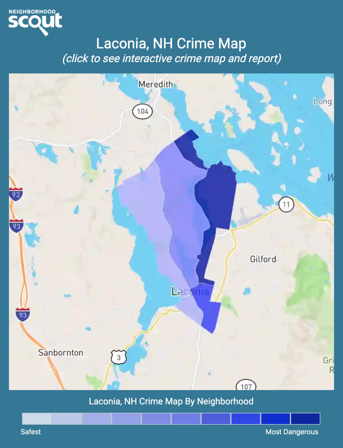 Laconia, New Hampshire crime map