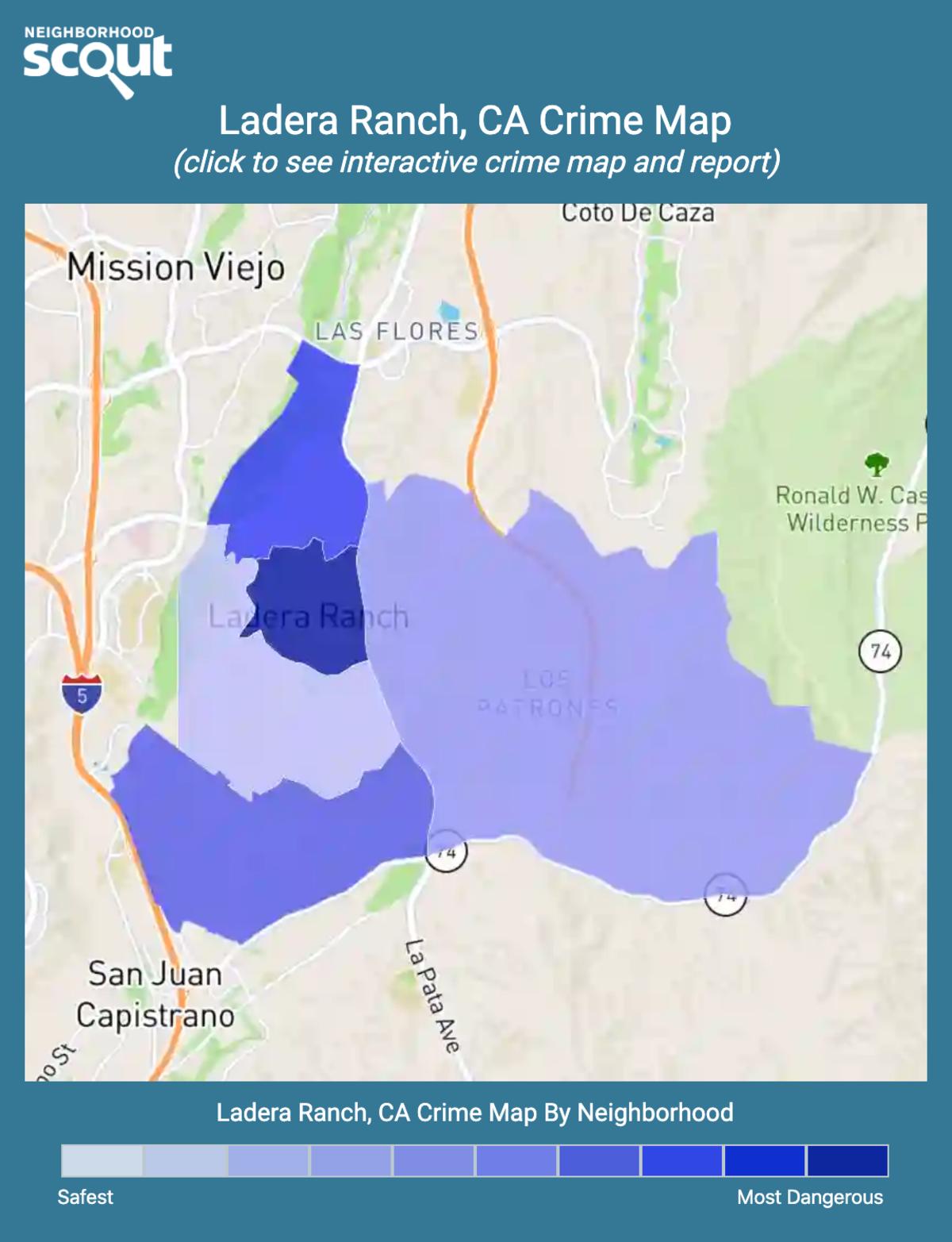 Ladera Ranch, California crime map