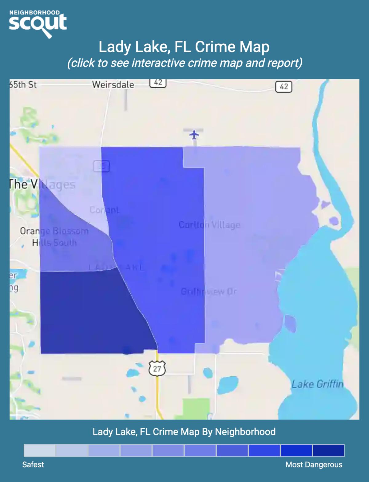 Lady Lake, Florida crime map