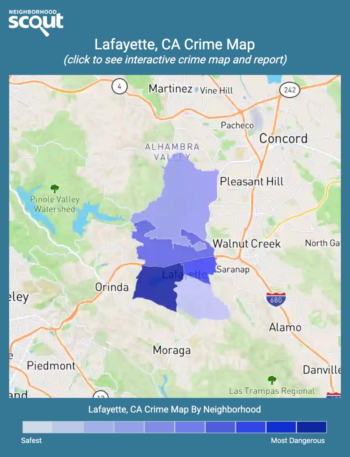 Lafayette, California crime map