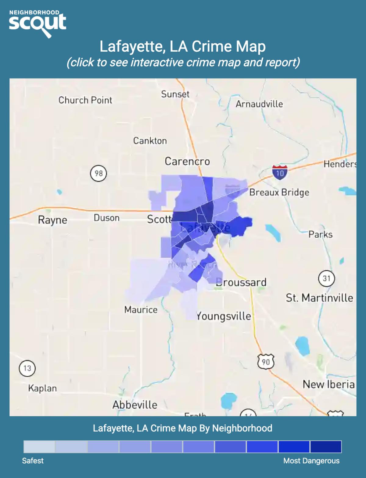 Lafayette, Louisiana crime map