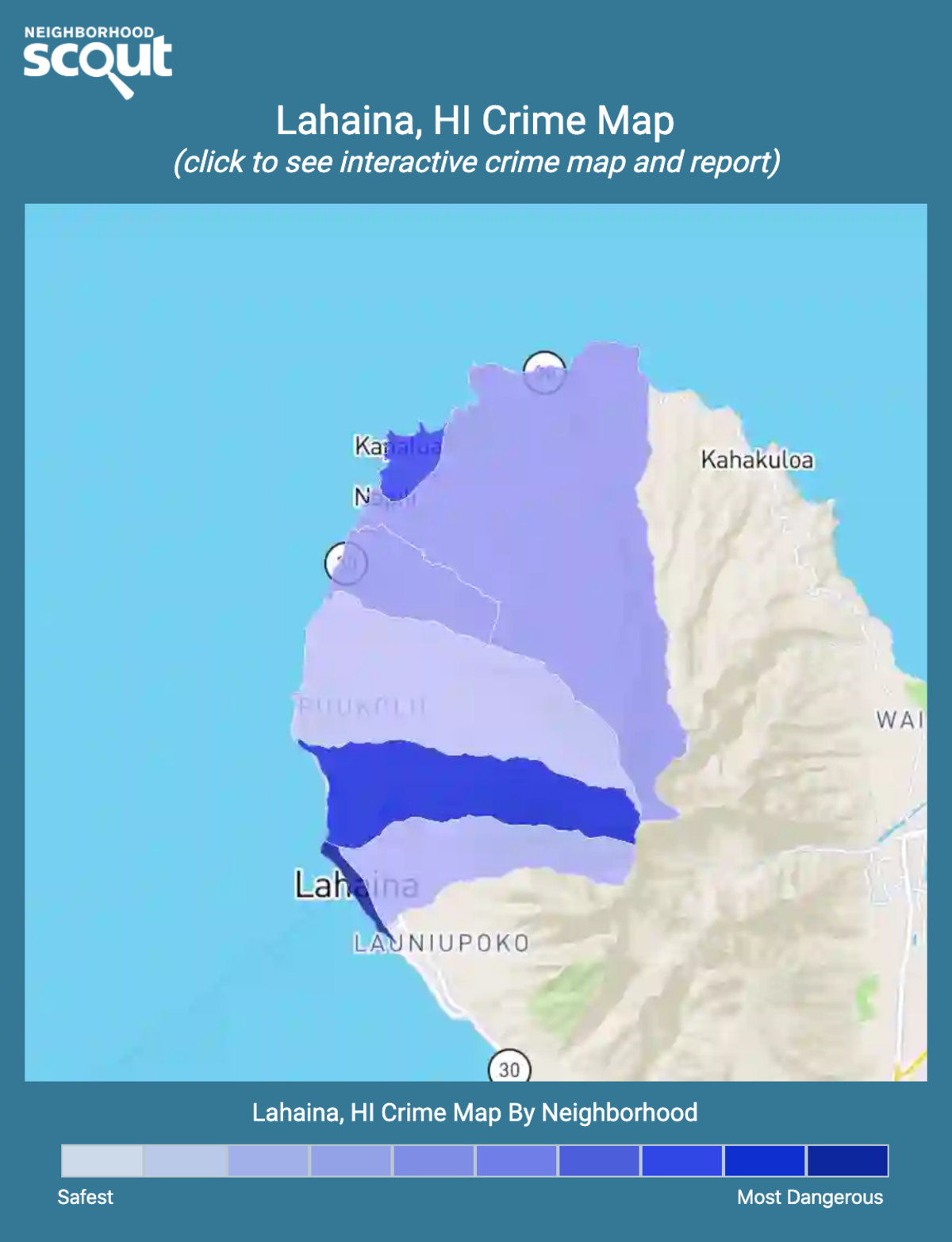 Lahaina, Hawaii crime map