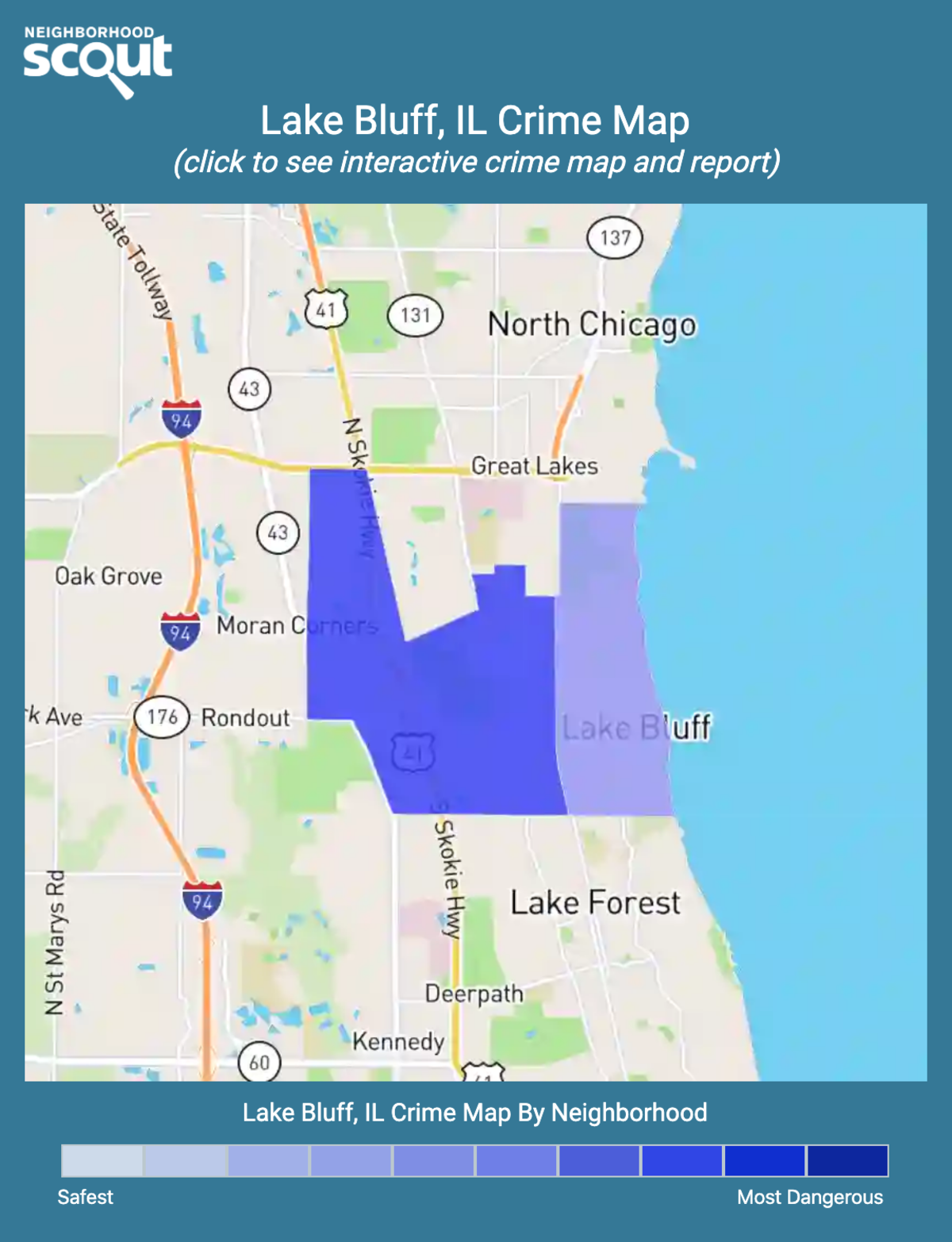 Lake Bluff, Illinois crime map