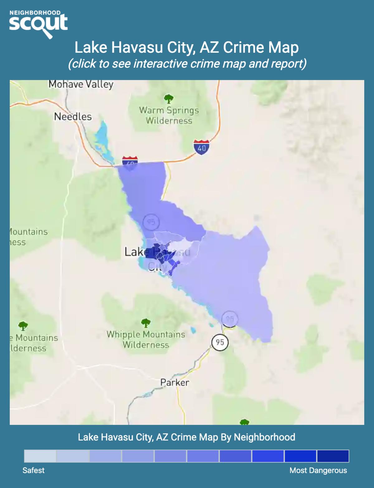 Lake Havasu City, Arizona crime map
