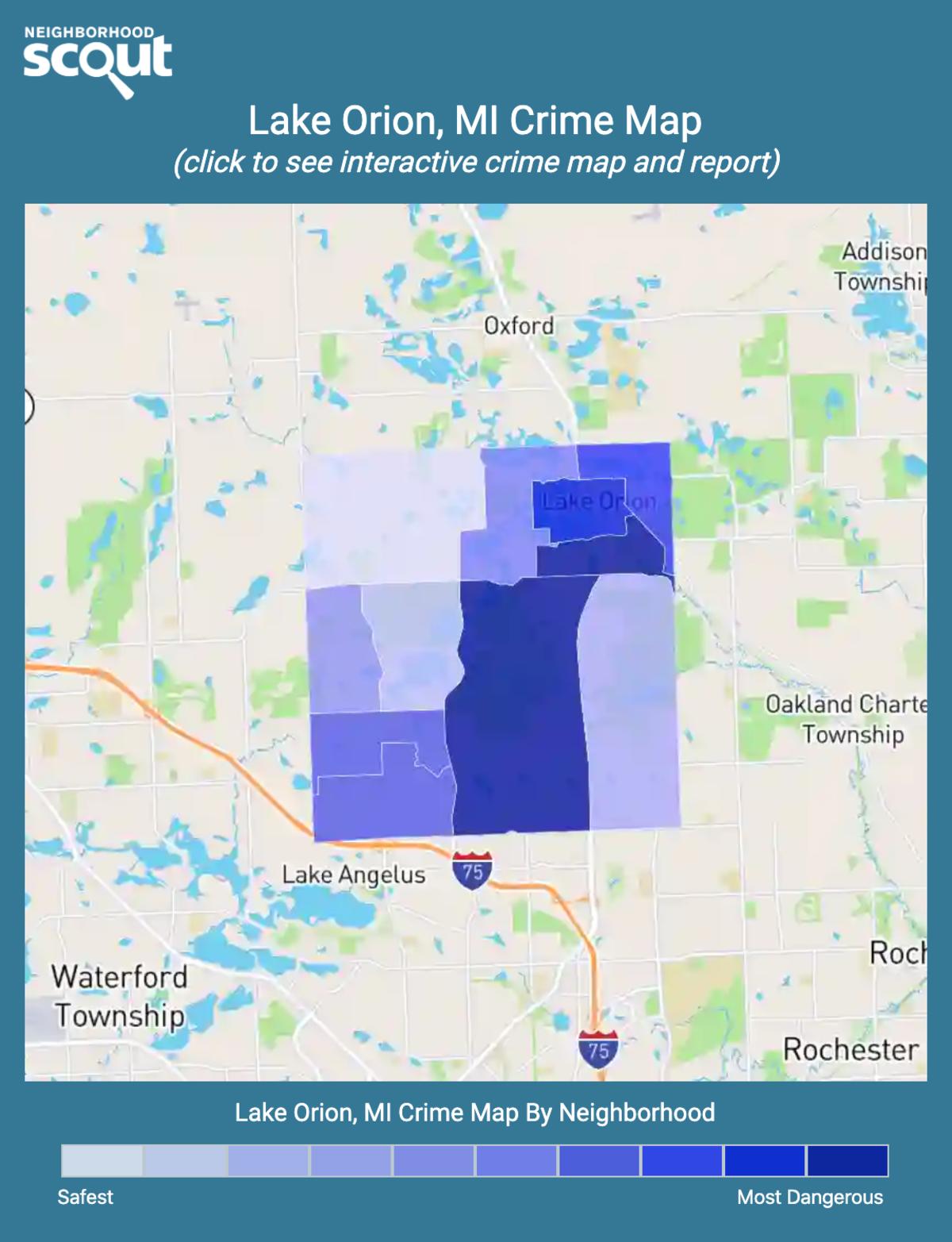 Lake Orion, Michigan crime map
