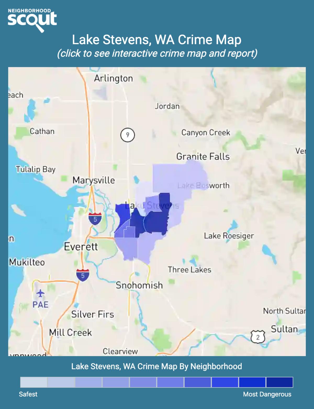 Lake Stevens, Washington crime map