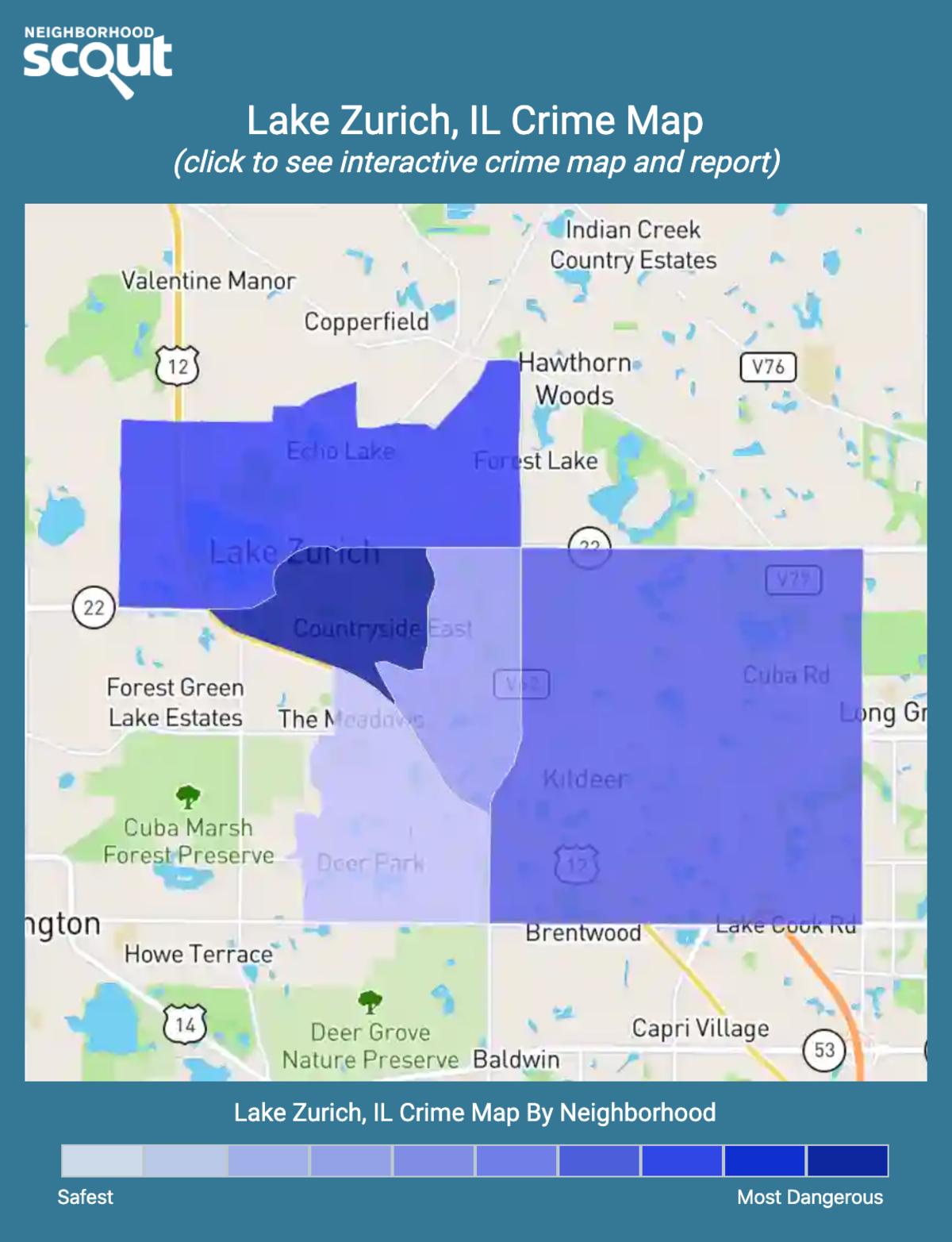 Lake Zurich, Illinois crime map
