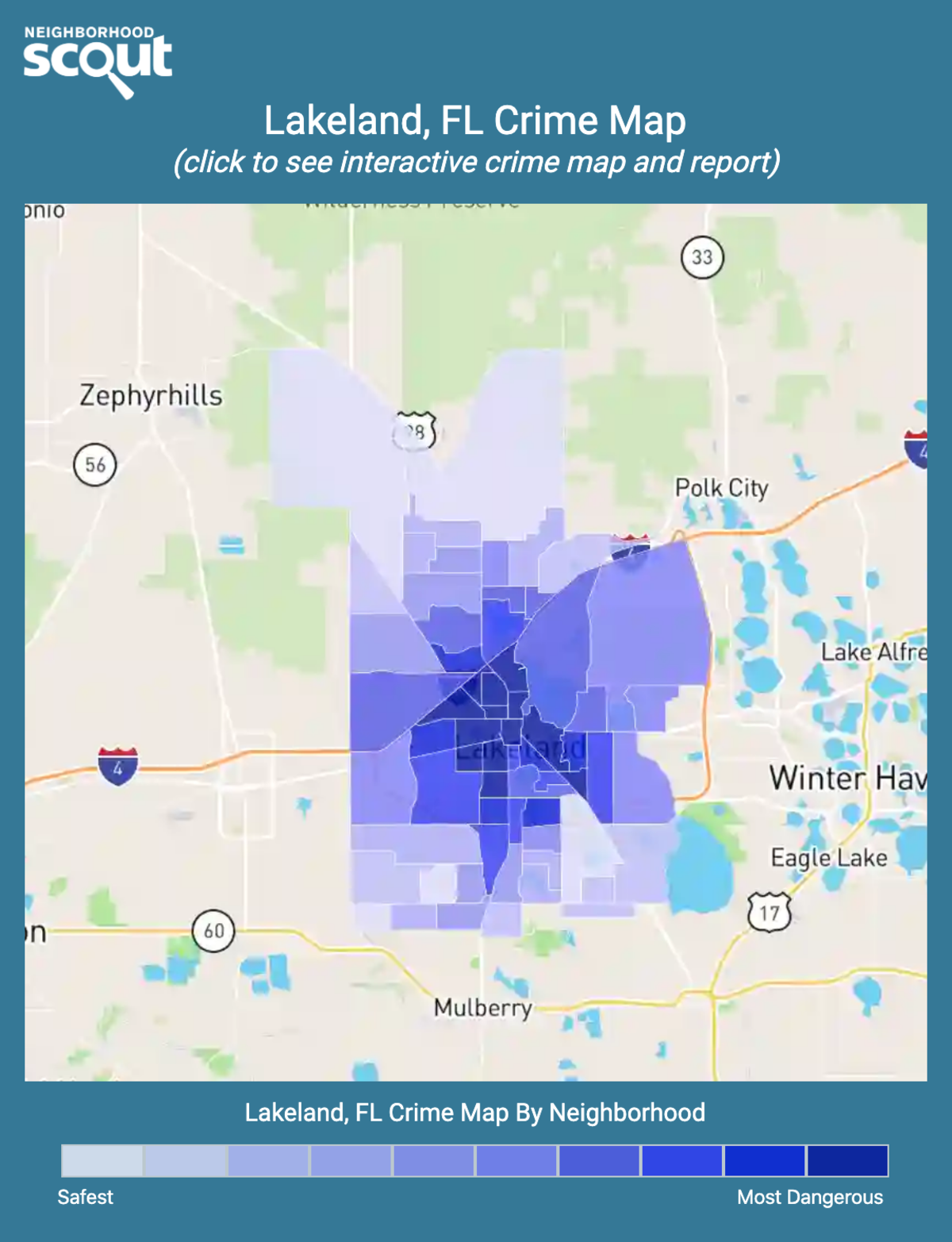 Lakeland, Florida crime map