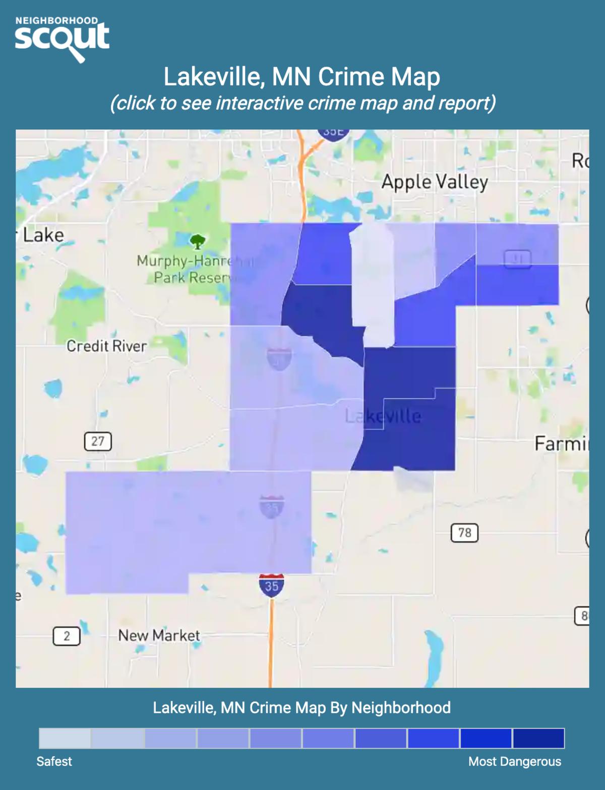 Lakeville, Minnesota crime map
