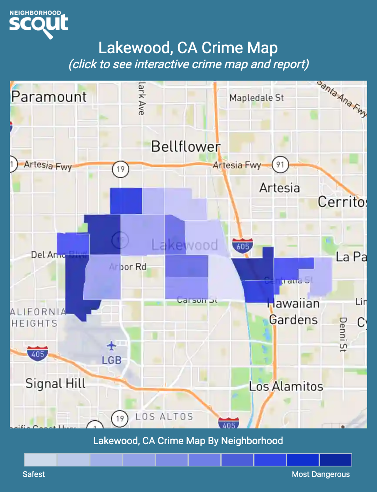 Lakewood, California crime map