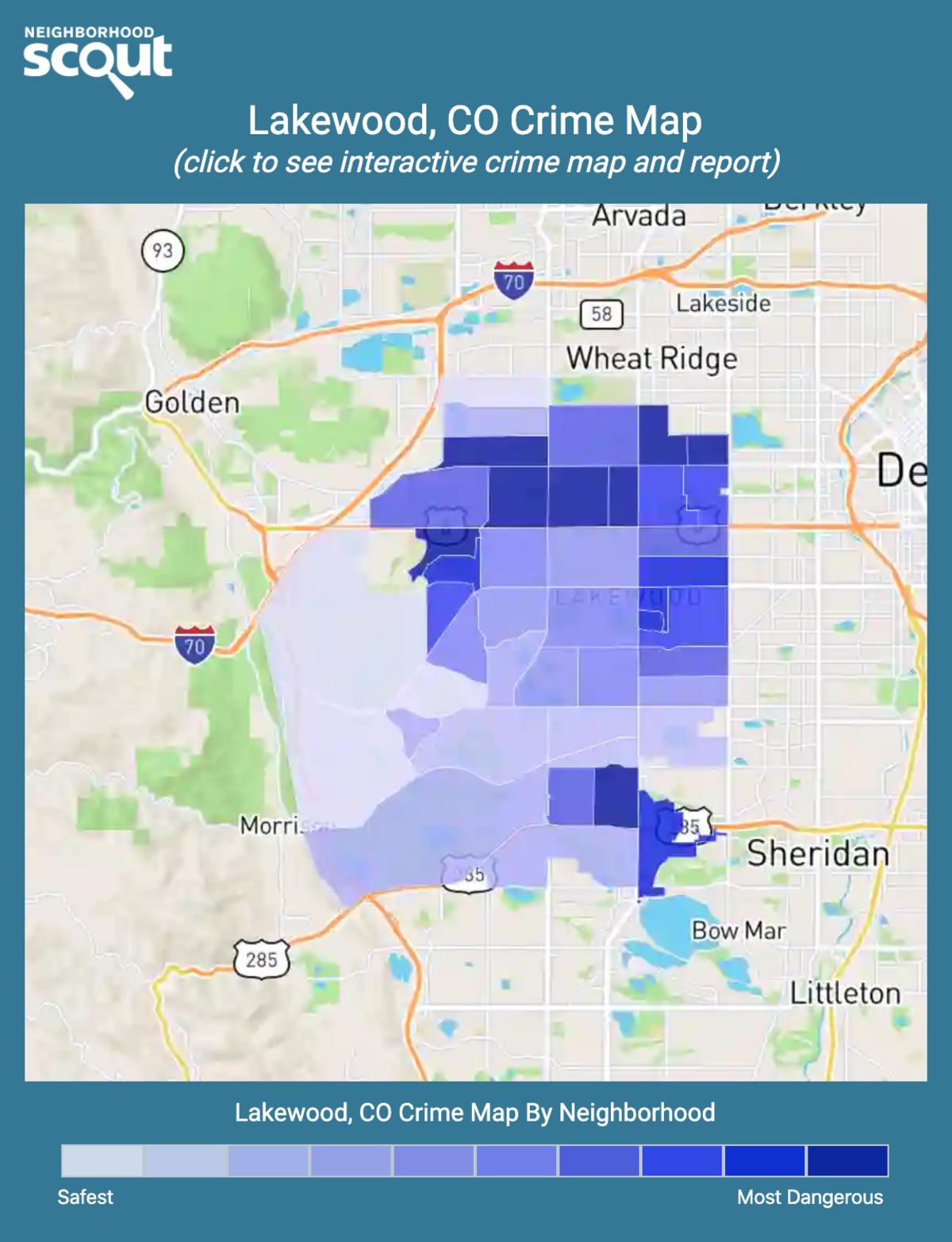 Lakewood, Colorado crime map