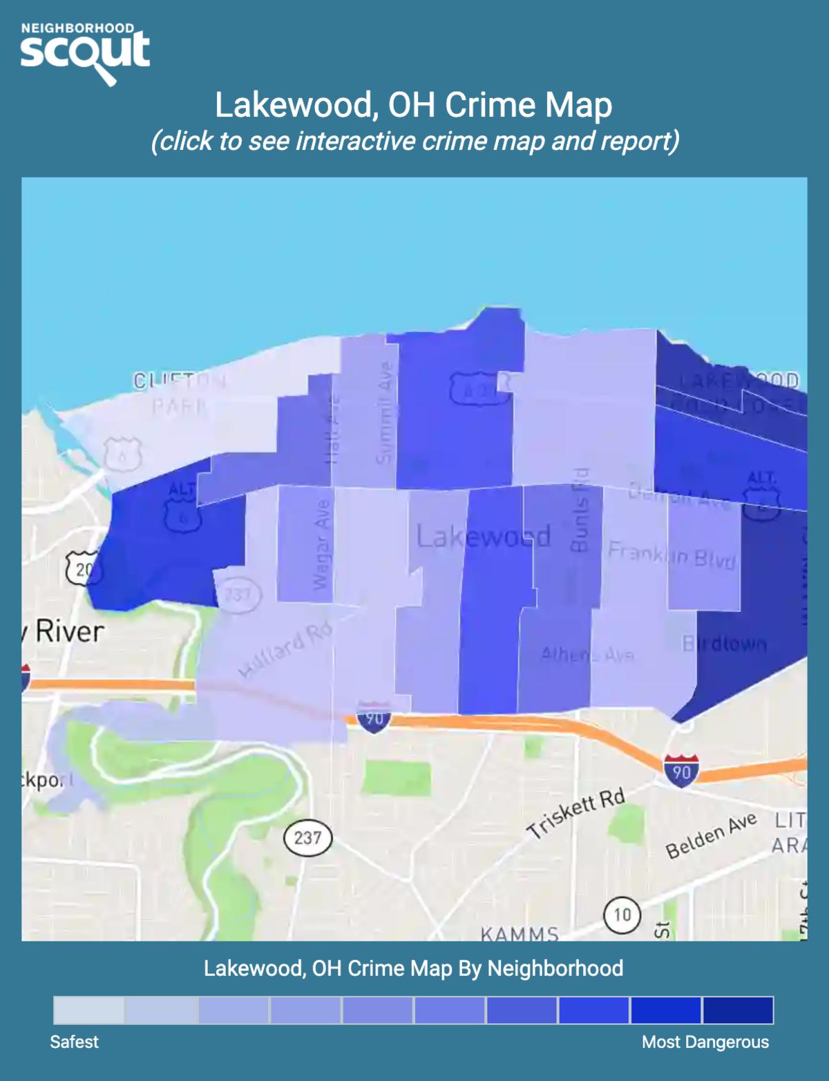 Lakewood, Ohio crime map