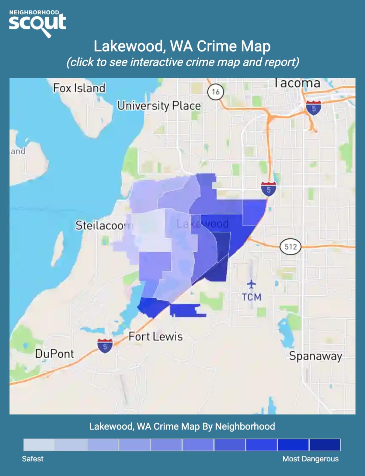 Lakewood, Washington crime map