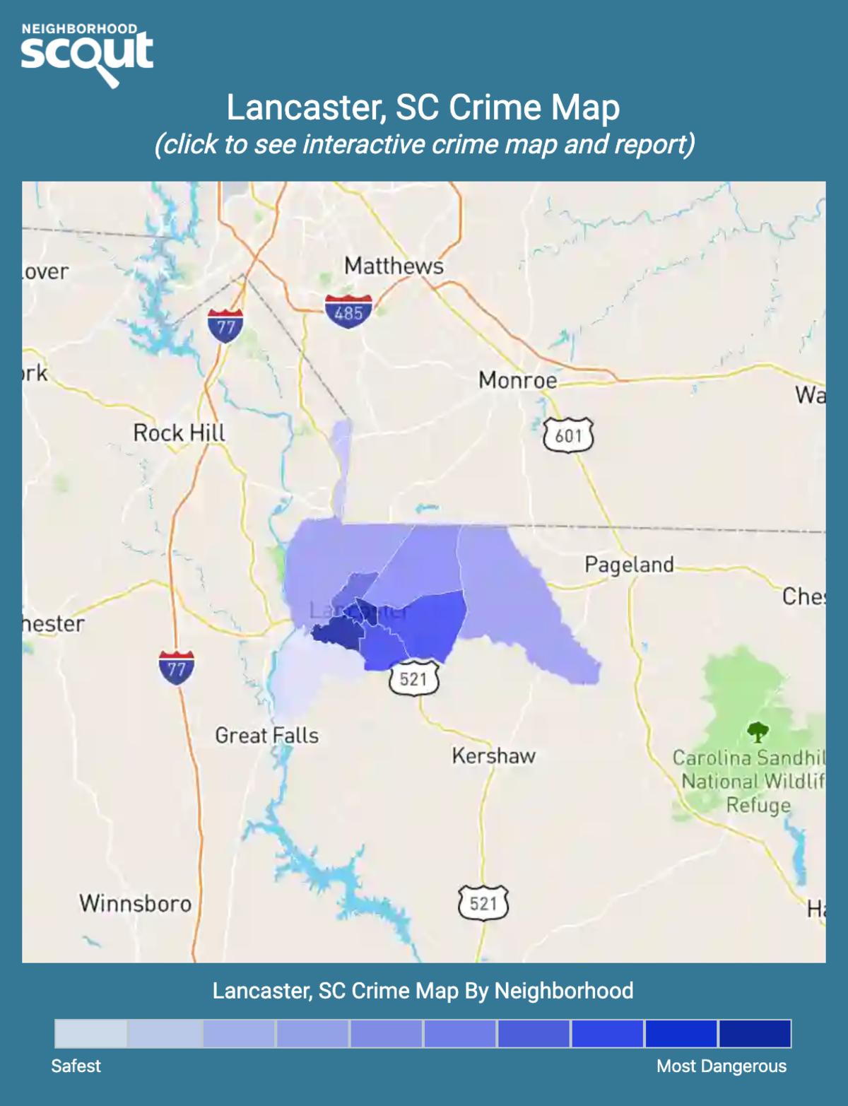 Lancaster, South Carolina crime map