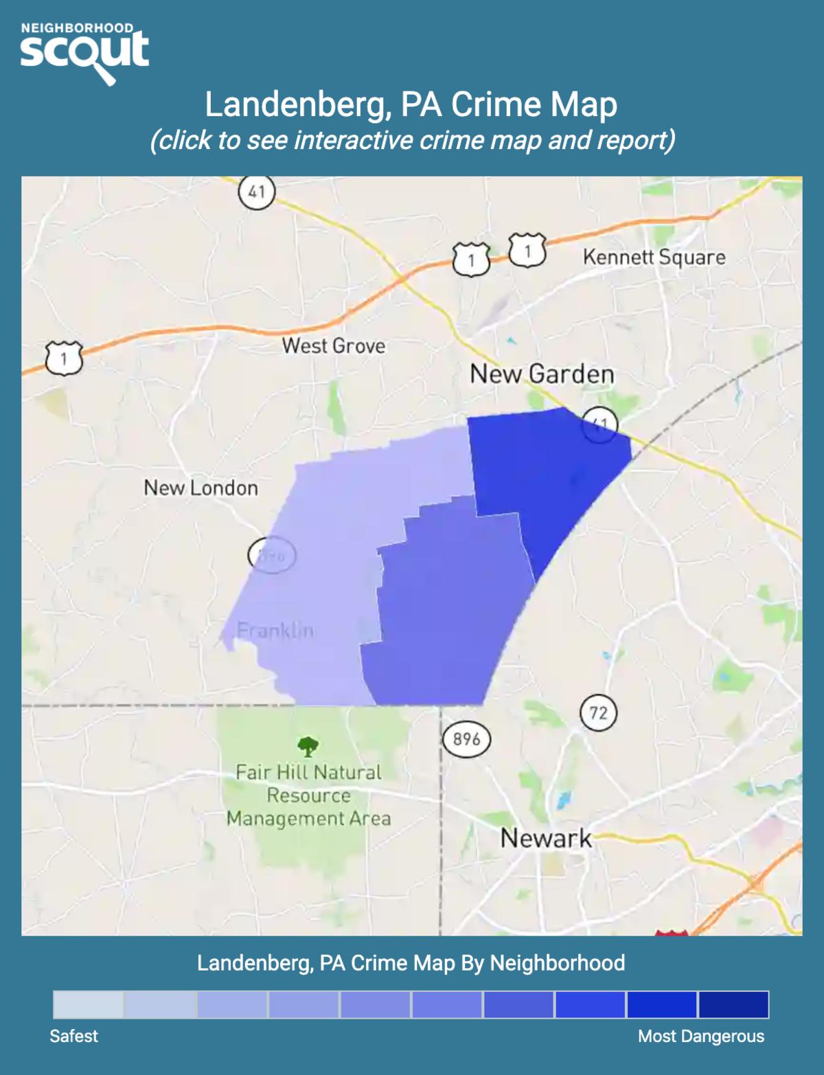 Landenberg, Pennsylvania crime map