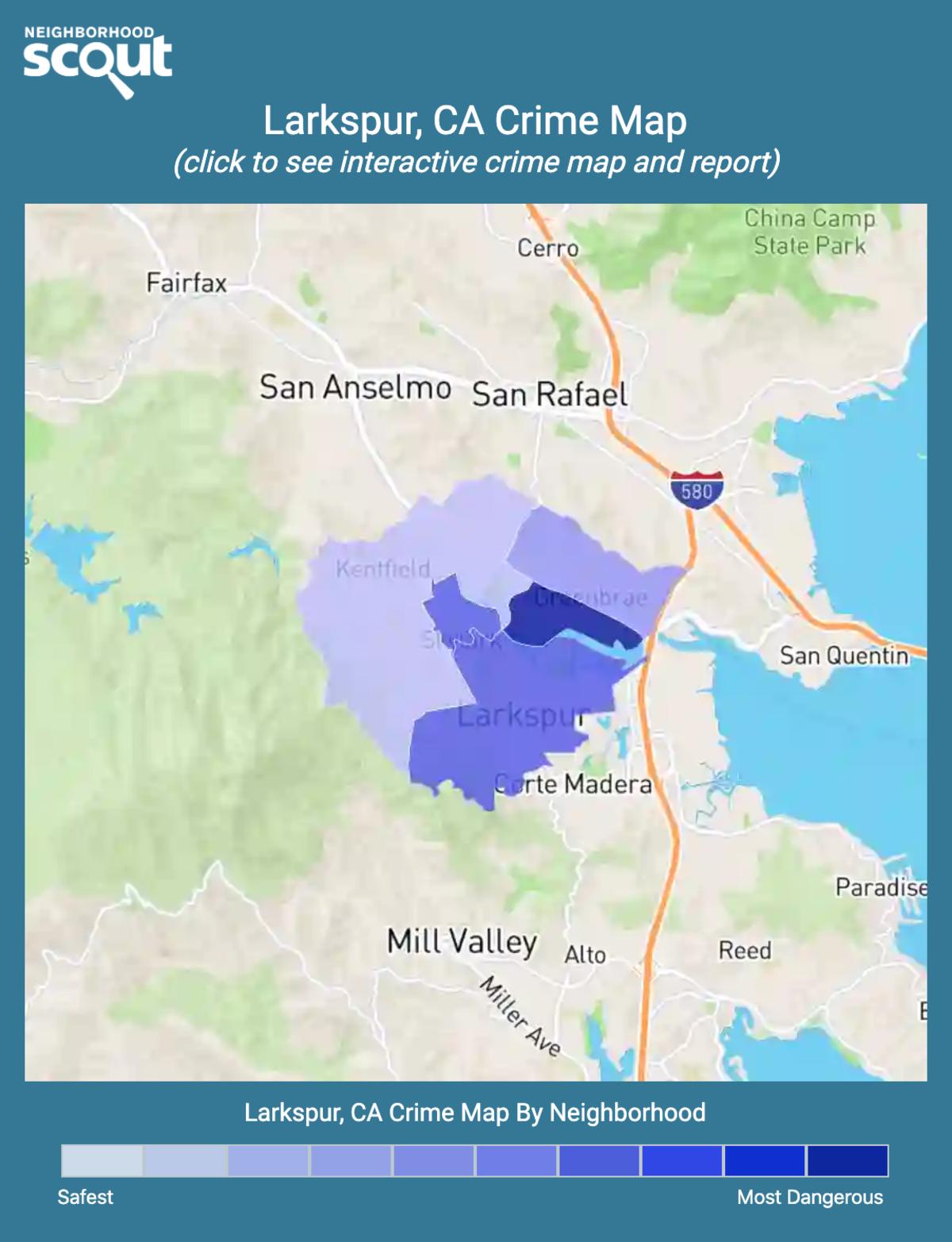 Larkspur, California crime map