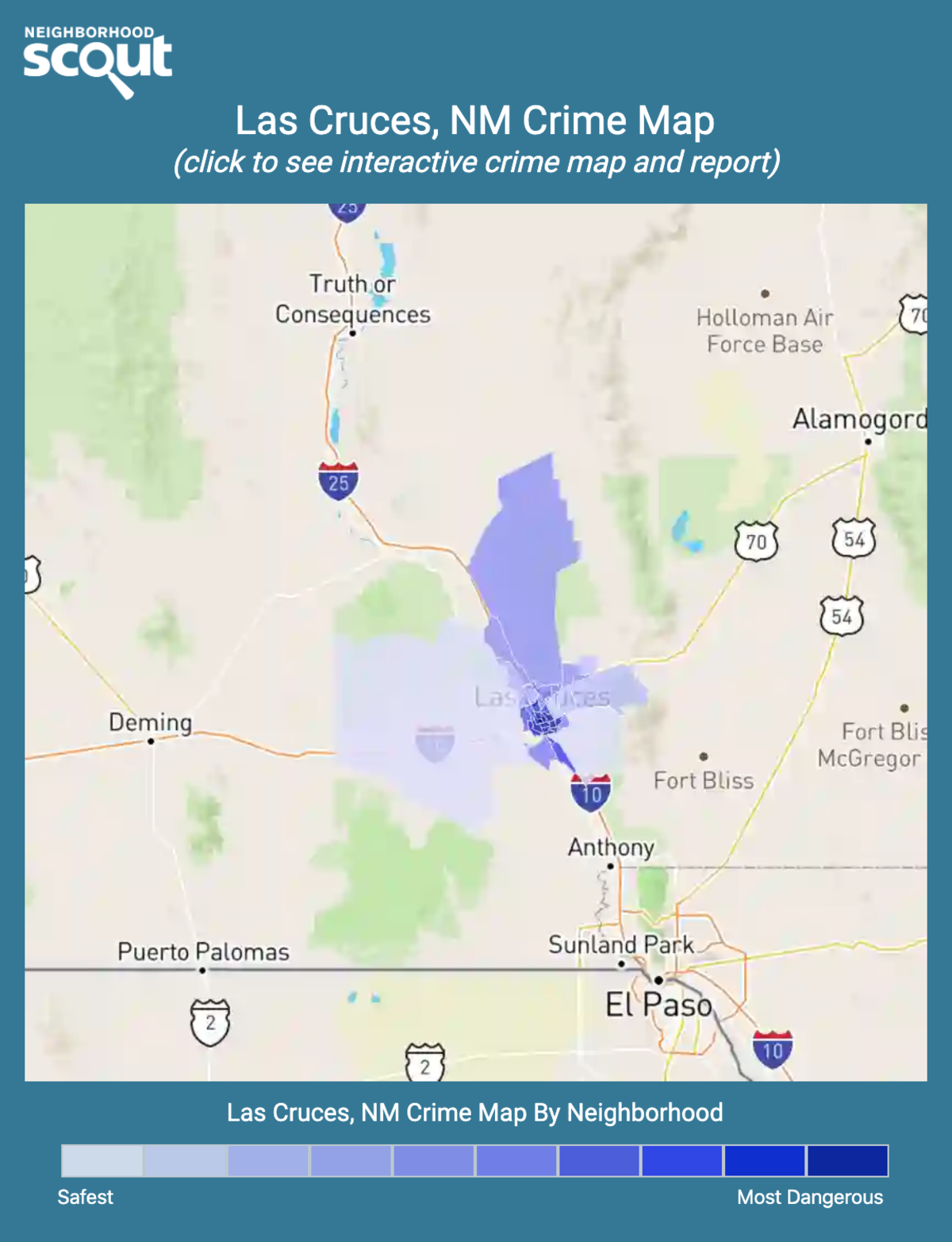 Las Cruces, New Mexico crime map
