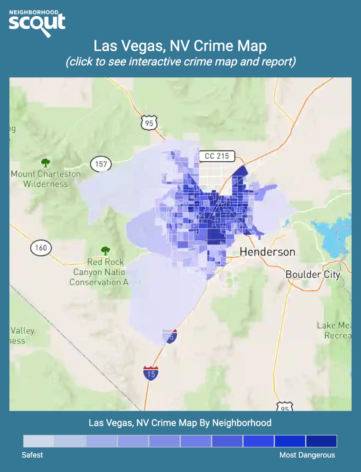 Las Vegas, Nevada crime map