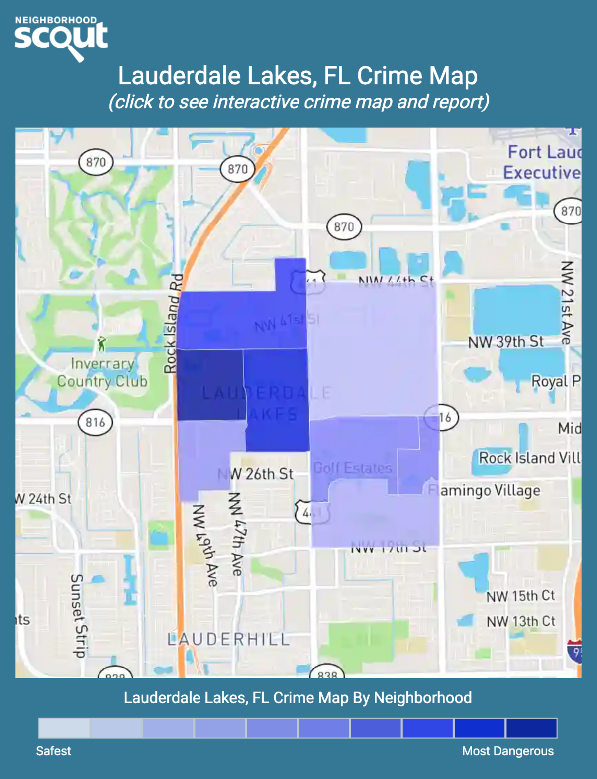 Lauderdale Lakes, Florida crime map