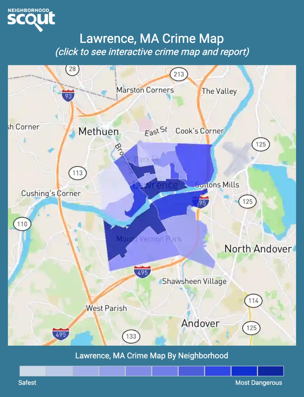 Lawrence, Massachusetts crime map
