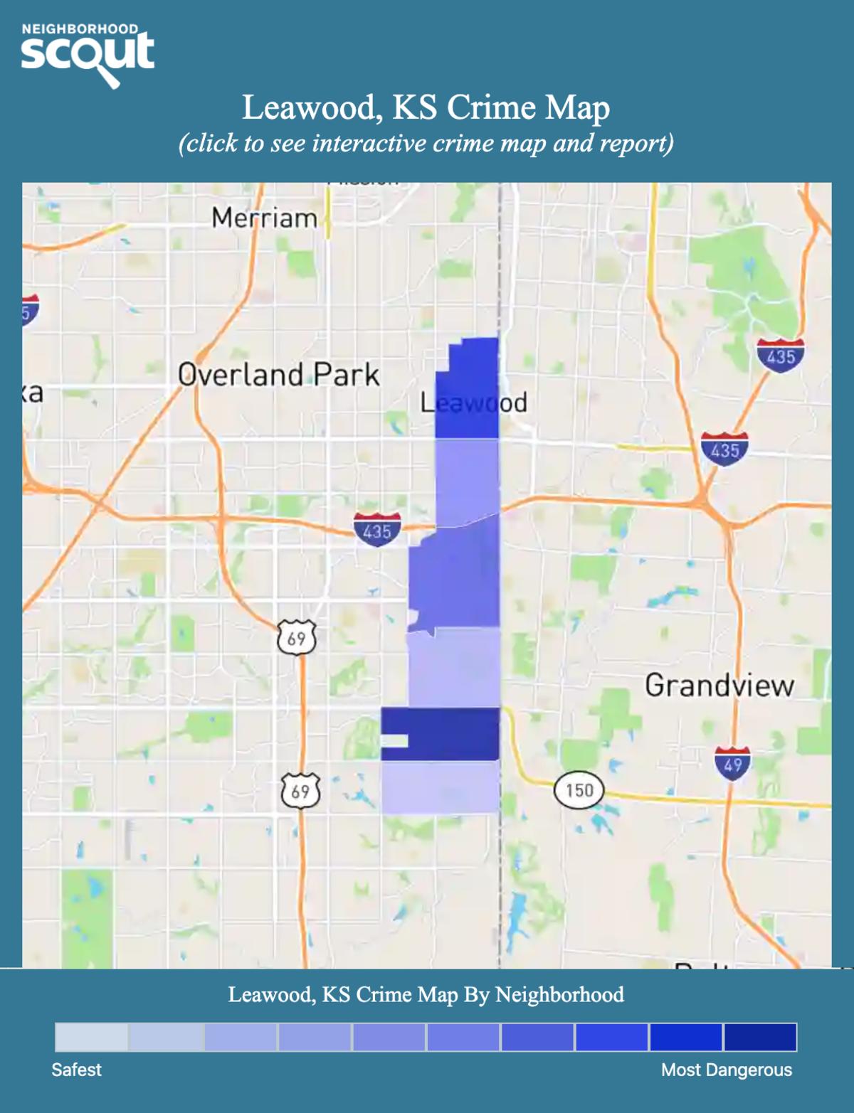 Leawood, Kansas crime map