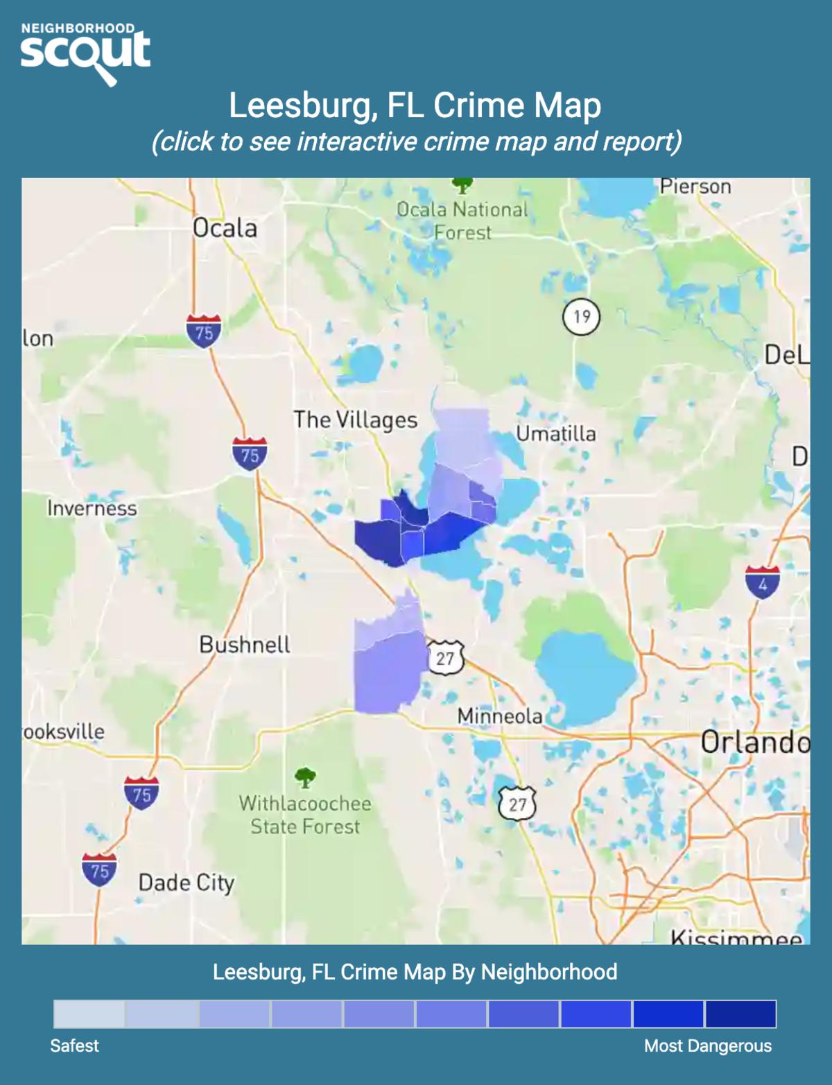 Leesburg, Florida crime map