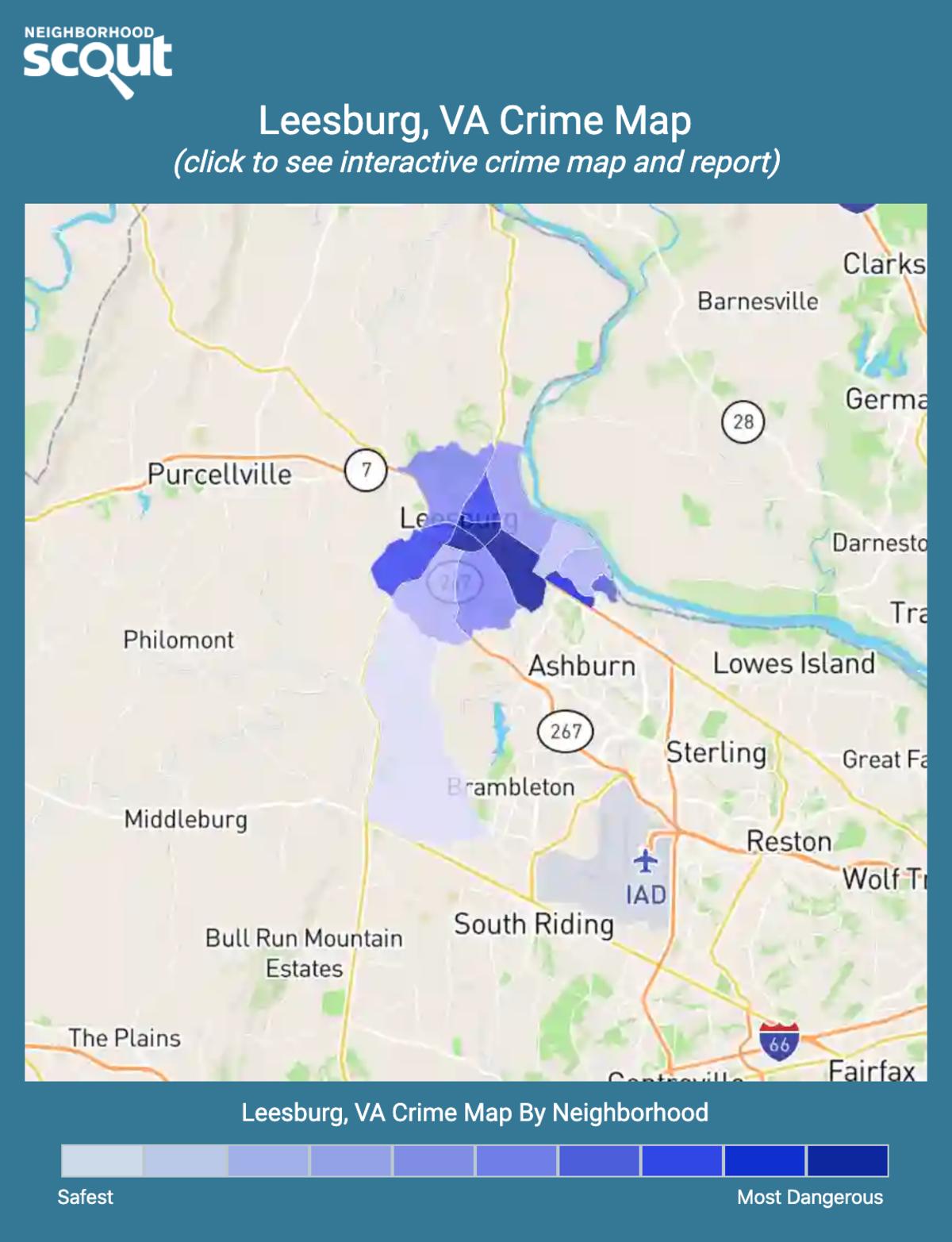 Leesburg, Virginia crime map
