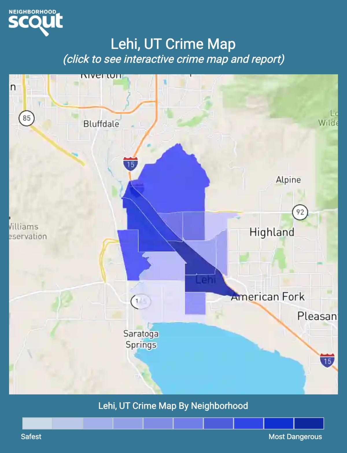 Lehi, Utah crime map