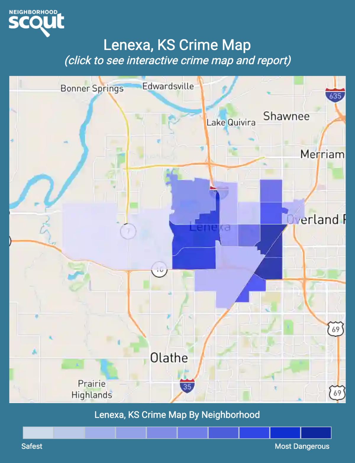Lenexa, Kansas crime map